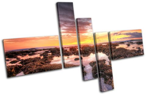 beautiful Shore Sunset Seascape - 13-0576(00B)-MP18-LO